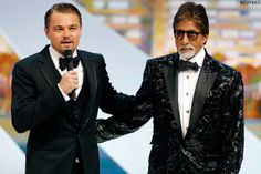 Leonardo and Amitabh at Cannes Festival 2013