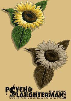Realistic Sunflower Tattoos | Pin Free Designs Sunflowers Tattoo Wallpaper on Pinterest