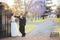Wedding Photography / Jimbour House / Jacaranda Tree's / Purple Wedding Theme / Sunset / Jessica Nichols Photography