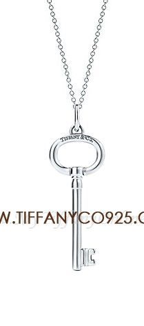 Tiffany Keys Oval Key Pendant Silver Necklace,Tiffany Necklaces