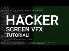 Hacker Screen LOOP - After Effects Tutorial! │ Create Professional Hacker Screen VFX! - YouTube