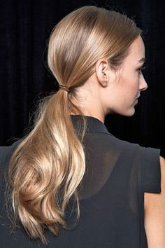 trending hairstyles, pony tail hair style, low ponytail, hair trends, sleek hair styles