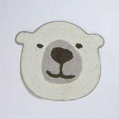 【Tomo】療癒動物純棉地墊_北極熊