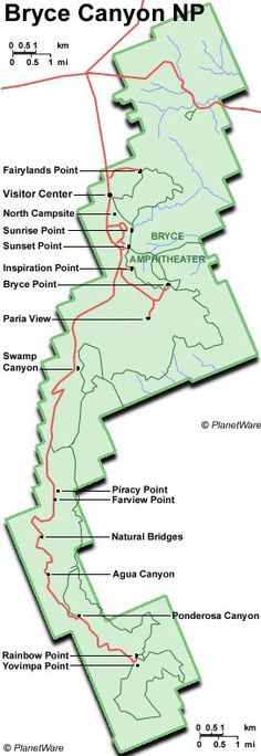 Utah - Bryce Canyon National Park - Map