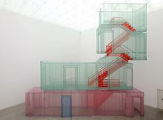 Do Ho Suh /  Corridor and Staircases (Kanazawa version), 2012 Polyester fabric, metal armature