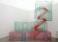 Do Ho Suh /  Corridor and Staircases (Kanazawa version), 2012 Polyester fabric, metal armature