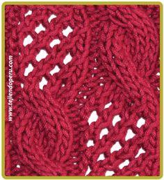 Trenza u ocho calada . cable formation, photos and video tutorials Cable Knitting Patterns, Knitting Stiches, Circular Knitting Needles, Knitting Videos, Lace Knitting, Knitting Designs, Knit Patterns, Stitch Patterns, Knit Crochet