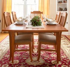 The warm tones of natural cherry wood furniture make the holidays even more welcoming and vibrant. #cherrywoodfurniture #tistheseason