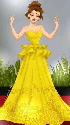 Disney Princess Drawings, Disney Princess Art, Princess Belle, Disney Fan Art, Disney Beauty And The Beast, Disney Pictures, Cute Girls, Cool Art, Art Drawings