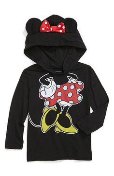 Mighty Fine 'Minnie Ears' Hoodie (Toddler Girls) available at #Nordstrom