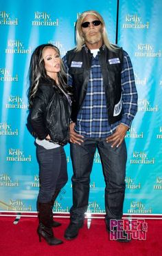 Kelly Ripa and Michael Strahan as Sons of Anarchy