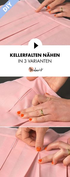 Kellerfalte nähen in 3 Varianten- Schritt für Schritt erklärt im Video-Kurs via Makerist.de