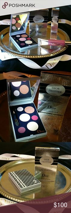 *RARE DIOR**TROTTER PALETTE**DIOR KISS GLOSS* **VERY RARE DIOR** *DIOR TROTTER* *MULTI USE PALETTE FOR *EYES*LIPS*CHEEKS* *PERFECT FOR ON THE GO* **DISCONTINUED**  *DIOR KISS LUSCIOUS LIP PLUMPING LIPGLOSS* #488 LYCHEE ROSE DIOR Makeup