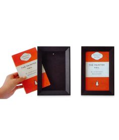 A Picture Worth A Thousand Words -  Whether you're adding a literary touch to your decor or just like having a reminder of your latest vicarious adventure, these novel frames let you show off your favorite paperback. So go ahead, judge a book by its cover! Can be hung on the wall or displayed on a flat surface.
