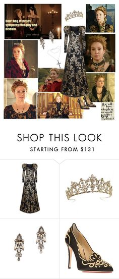 """""""Queen Catherine de Medici"""" by greerflower ❤ liked on Polyvore featuring Andrew Gn, CO, Erickson Beamon, Charlotte Olympia and NOVICA"""