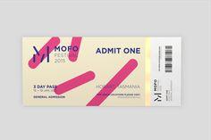 A new event identity concept for the MOFO festival Harley Jackman is a Melbourne, Australia based graphic designer. Layout Design, Print Design, Form Design, Blog Design Inspiration, Ticket Design, Event Branding, Disco Party, Coupon Design, Lettering