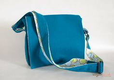 Teal Crossbody Messenger by sugarrushcreative on Etsy, $42.00