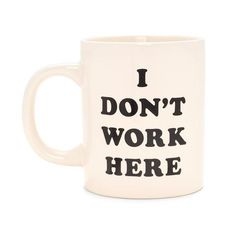 hot stuff ceramic mug - i don't work here