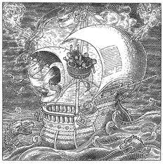 Men's Ladies T SHIRT cool Pirate Ship Skull optical illusion art Ozosz Scary Optical Illusions, Art Optical, Illusion Kunst, Illusion Art, Memento Mori, Illusion Pictures, Hidden Pictures, Skull Face, Skull And Bones