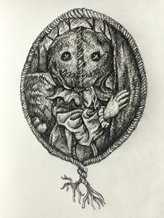 Lonely.. <trick or treat> (Low ink pigma Faber-castell)