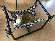 Image result for kitty hammock on a stand