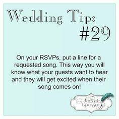 RSVPs for weddings