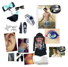 """""""Swimming and going to a party with Jeremy"""" by cmsvball19 on Polyvore featuring Bling Jewelry, Vans, Ray-Ban, WearAll, MANGO, Karen Kane, BERRICLE and Converse"""