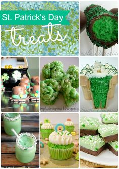 A collection of St. Patrick's day treats!