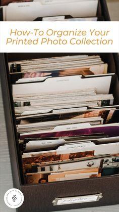 Clutter Organization, Home Organization Hacks, Paper Organization, Organizing Paperwork, Organizing Life, Organizing Ideas, Getting Organized, Organized Home, Picture Storage