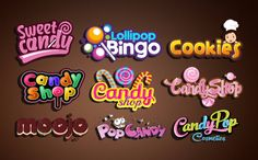 Fiverr freelancer will provide Logo Design services and make awesome chocolate,candy,cookie or bakery logo including Source File within 1 day Cake Logo Design, Typo Design, Psychedelic Typography, Sweet Logo, Candy Logo, Logo Cookies, Bakery Logo, Lettering Styles, Retro Logos