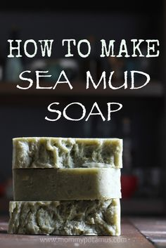 "I call this recipe ""beach therapy in a bar."" If you've never tried making soap this is one of the easiest recipes to start with. Full photo tutorial in the post."