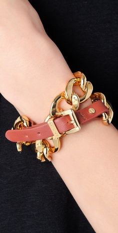 Michael Kors double wrap bracelet. Tried it on at work. mmm, not all that d: Looks good here though