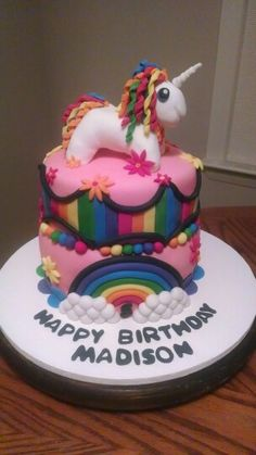 Of all birthdays my soon to be 9 year old wants a Rainbow unicorn cake