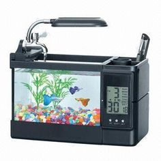 Innovative Product: Make room on the desk for this mini-fish tank with LED light, digital clock, humidifier & pen holder. See it at http://www.globalsources.com/gsol/I/Novelty-desk/p/sm/1052961273.htm. Plus100s more #novelty products at http://www.globalsources.com/gsol/I/Novelty-suppliers/s/2000000003844/3000000152009/19364.htm.