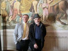 Fabio Civitelli e o crítico de arte Italo Marucci
