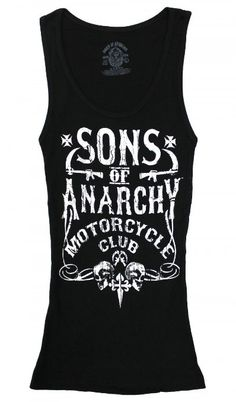 Amazon.com: Motor Club - Sons Of Anarchy Sheer Women's Tank Top(Black, Small): Clothing