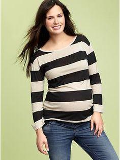 Gap Maternity striped boatneck top #maternity