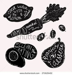 hand lettered farm logos vegetables - Google Search