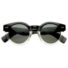 5b88cc36ba Vintage Fashion Inspired Bold Circle Round Sunglasses w  Key-Hole Bridge  8368 Round Lens