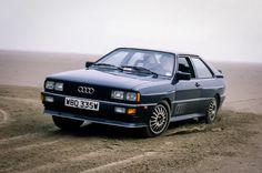 Audi Quattro, '81 Audi U.K. press car in Helios Blue metallic. WBD335W with Autocar magazine, this shot was used in a magazine article