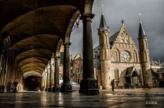 Binnenhof, The Hague, Netherlands,     Extraordinary day: Storm is in the sky! (by Milan van der Meer)