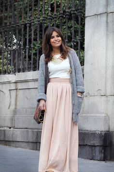 hot pink maxi skirt & loose tank | Style Inspiration | Pinterest ...