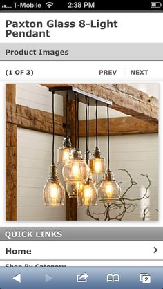 Shop at Pottery Barn for lamp shades for all your lighting fixtures. Our collection includes a variety of drums and linen lamp shades in the latest styles and colours. Pendant Lighting, Home Lighting, Rustic Lighting, Light, Kitchen Lighting, Glass, Light Fixtures, Lights, Dining Room Lighting