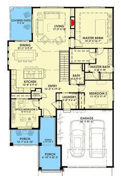 Expandable Bungalow House Plan - 64441SC | Architectural Designs - House Plans