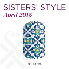 Si parla Italiano? In homage to the city in northern Italy, this month's Sisters' Style Exclusive is taking you to Bellagio's waterfront. With beautiful lakeside colors and a classic Italian-inspired tile design, Bellagio is where laid-back meets luxury.   #BellagioJN  http://www.wantsome.jamberrynails.net/product/bellagio#.VRyUj_nF-T8