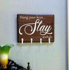 Small town Mom having fun making signs and clothing. Wood Burning Techniques, Wooden Key Holder, How To Make Signs, Unique Jewelry, Handmade Gifts, Fun, Vintage, Home Decor, Kid Craft Gifts