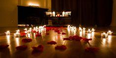 Lugares románticos con velas