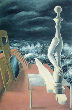 The Birth of Idol, 1926. René Magritte (November 21, 1898 – August 15, 1967) was a Belgian surrealist artist. He became well known for a number of witty and thought-provoking images. Often depicting ordinary objects in an unusual context, his work is known for challenging observers' preconditioned perceptions of reality.