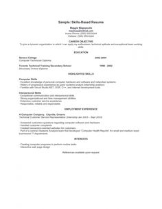 sample skill based resume format web example curriculum vitae