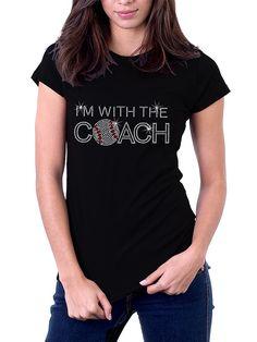 I'm With the Coach Baseball Rhinestone Shirt by RascoPrints, $18.99